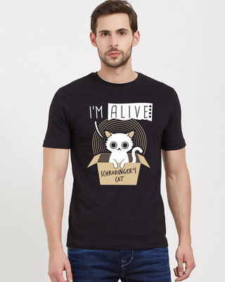 Shop Redwolf Dead Or Alive - Glow In The Dark T-Shirt Cotton Half Sleeves T-Shirt-Front