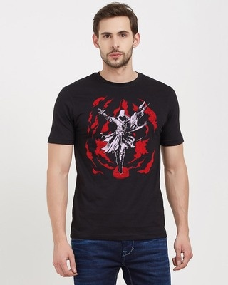 Shop Redwolf Leap Of Faith Cotton Half Sleeves T-Shirt -Front