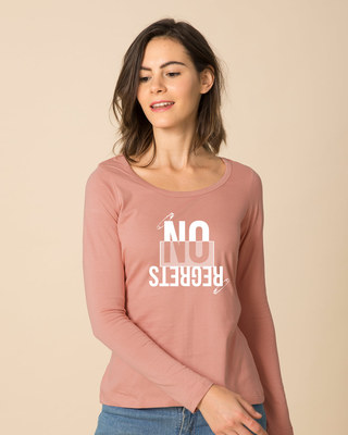 Shop Regrets-none Scoop Neck Full Sleeve T-Shirt-Front