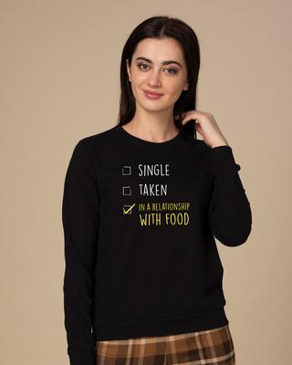 Shop Relationship With Food Sweatshirt-Front