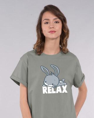 Shop Relax Chibi Bunny Boyfriend T-Shirt (LTL)-Front