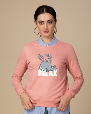Shop Relax Chibi Bunny Fleece Sweater (LTL)-Front