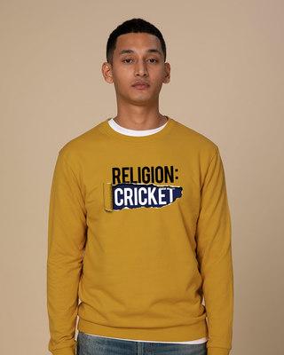 Shop Religion Is Cricket Sweatshirt-Front