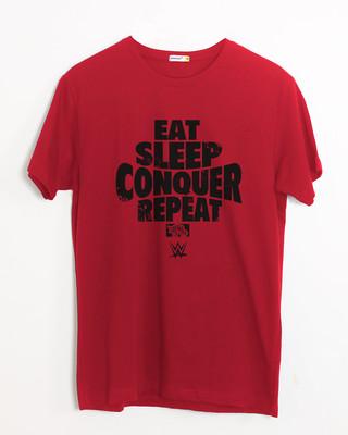 Shop Repeat Brock Lesner Half Sleeve T-Shirt (WWEL)-Front