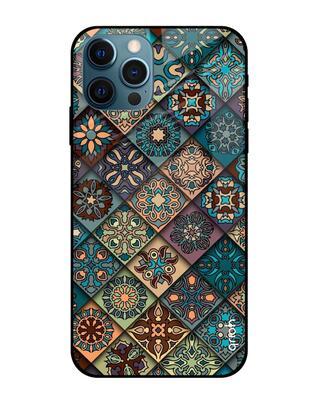 Shop Qrioh Retro Art Glass case for iPhone 12 Pro-Front