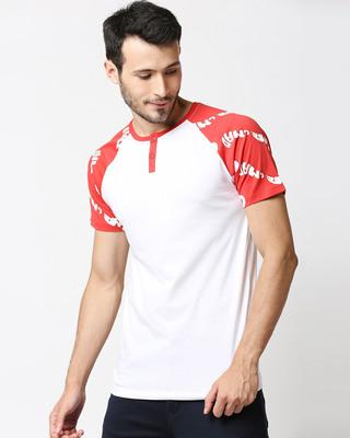 Shop Retro Red AOP Raglan T-Shirt-Front