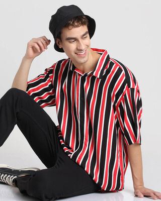Shop Retro Red Stripe Shirt-Front