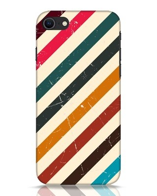 Shop Retro Stripes iPhone SE 2020 Mobile Cover-Front