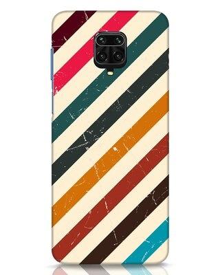 Shop Retro Stripes Xiaomi Redmi Note 9 Pro Mobile Cover-Front