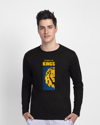 Shop Return Of The Kings Full Sleeve T-Shirt Black-Front
