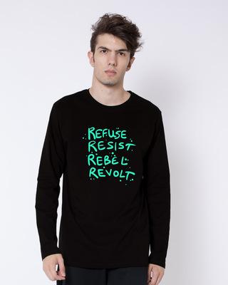 Buy Revolt Full Sleeve T-Shirt Online India @ Bewakoof.com