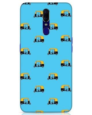 Shop Rickshaw Pattern Oppo F11 Mobile Cover-Front