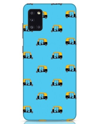 Shop Rickshaw Pattern Samsung Galaxy A31 Mobile Cover-Front