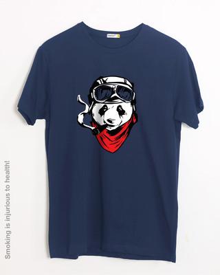 Shop Rider Panda Half Sleeve T-Shirt-Front
