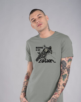 Shop Riding Is My Escape Half Sleeve T-Shirt-Front