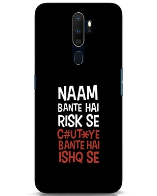 Shop Risky Ishq Oppo A9 2020 Mobile Cover-Front