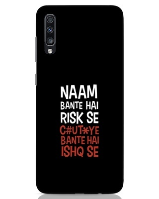 Shop Risky Ishq Samsung Galaxy A70 Mobile Cover-Front