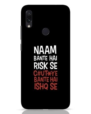 Shop Risky Ishq Xiaomi Redmi Note 7 Pro Mobile Cover-Front