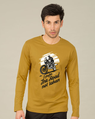 Shop Road Not Taken Full Sleeve T-Shirt-Front