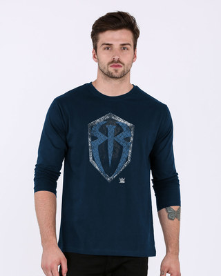 Shop Roman Rigns Shield Full Sleeve T-Shirt (WWEL)-Front