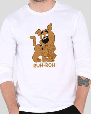 Shop Ruh Roh Scoob Full Sleeve T-Shirt White (SDL)-Front
