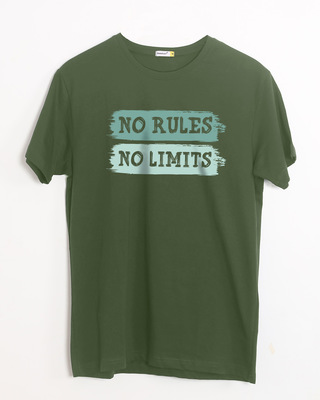 Shop Rules And Limits Half Sleeve T-Shirt-Front