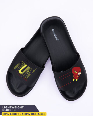 Shop Run Flash Men's Printed Sliders-Front