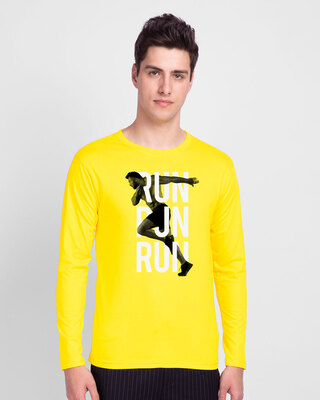 Shop Run Run Run Full Sleeve T-Shirt-Front