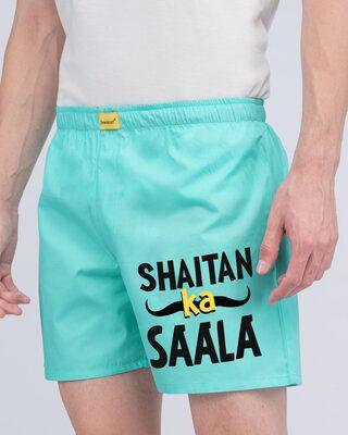 Shop Saala Shaitan Side Printed Boxer-Front