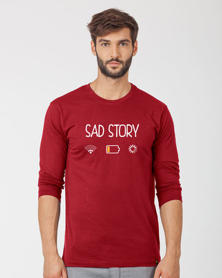 Shop Sad Story Full Sleeve T-Shirt-Front
