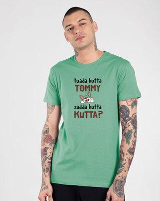 Shop Sadda Kutta Half Sleeve T-Shirt Jade Green-Front