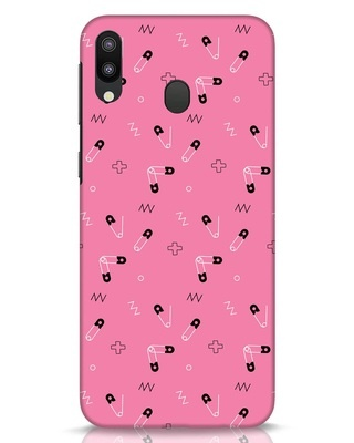 Shop Safety Pins Samsung Galaxy M20 Mobile Cover-Front