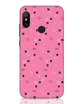 Shop Safety Pins Xiaomi Redmi 6 Pro Mobile Cover-Front