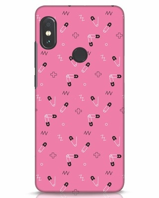 Shop Safety Pins Xiaomi Redmi Note 5 Pro Mobile Cover-Front