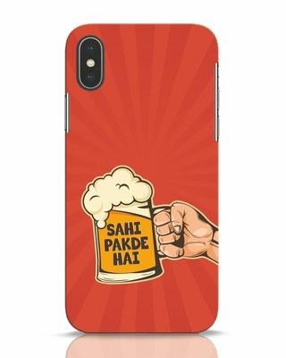 Shop Sahi Pakde Hai iPhone X Mobile Cover-Front
