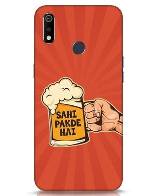 Shop Sahi Pakde Hai Realme 3i Mobile Cover-Front