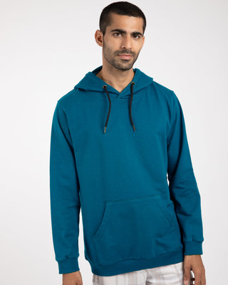 Shop Sailor Blue New Fleece Hoodies-Front