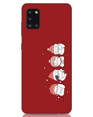 Shop Santa Cats Samsung Galaxy A31 Mobile Cover-Front
