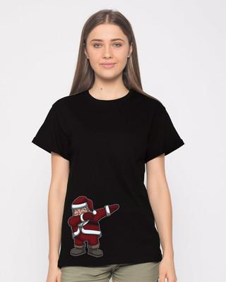 Shop Santa Dab Boyfriend T-Shirt-Front