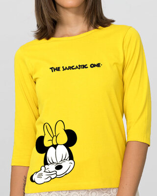 Shop Sarcastic One Round Neck 3/4th Sleeve T-Shirt (DL)-Front