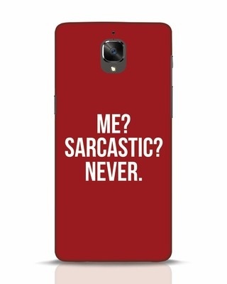 Shop Sarcastic OnePlus 3 Mobile Cover-Front