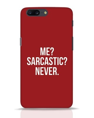 Shop Sarcastic OnePlus 5 Mobile Cover-Front