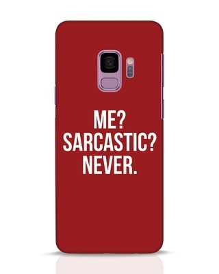 Shop Sarcastic Samsung Galaxy S9 Mobile Cover-Front