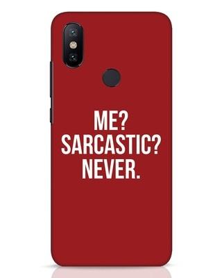 Shop Sarcastic Xiaomi Mi A2 Mobile Cover-Front