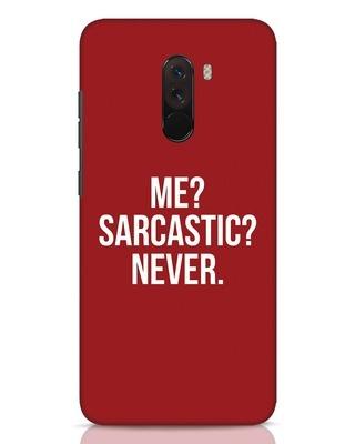 Shop Sarcastic Xiaomi POCO F1 Mobile Cover-Front