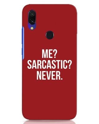 Shop Sarcastic Xiaomi Redmi 7 Mobile Cover-Front