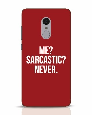Shop Sarcastic Xiaomi Redmi Note 4 Mobile Cover-Front