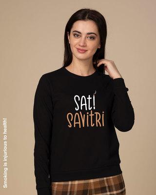 Shop Sati Savitri Sweatshirt-Front