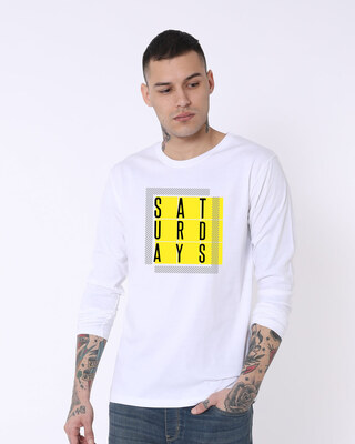 Shop Saturdays Full Sleeve T-Shirt-Front