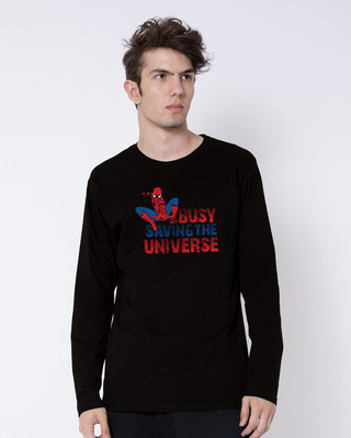 Shop Saving The Universe Full Sleeve T-Shirt (FFHL)-Front